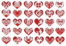 Thirty heart, vector Stock Photo