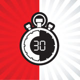 Thirty minute stop watch countdown. A thirty minute stop watch countdown royalty free illustration