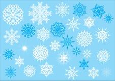 Thirty one snowflakes set Stock Photo