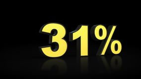 Thirty-one Wiedergabe 31% Prozent 3D Lizenzfreie Stockfotografie
