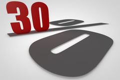 Thirty percent 3d render royalty free stock photography