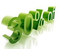 Thirty percent discount Stock Image