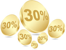 Thirty percent discount Royalty Free Stock Photography
