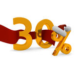 Thirty percent discount Royalty Free Stock Photos