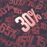 Thirty Percent Discount Stock Photos