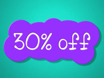 Thirty Percent Off Represents Promo Merchandise And Promotion Royalty Free Stock Photography