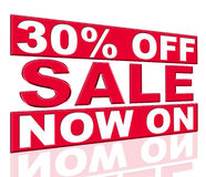 Thirty Percent Off Represents At This Time And Clearance Royalty Free Stock Images
