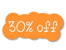 Thirty Percent Off Shows Sales Retail And Discount Royalty Free Stock Photos