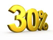 Thirty percent symbol on white background Stock Photography