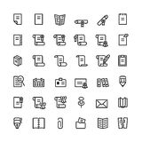 Thirty six black outline computer icons Stock Photo