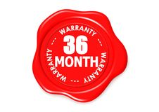 Thirty six month warranty seal Stock Images
