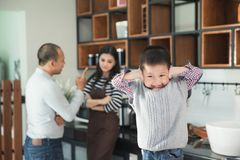 Please stop parent fighting at the background royalty free stock photos