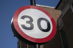 Thirty Speed Sign Royalty Free Stock Photo