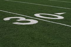Thirty Yard Line royalty free stock images