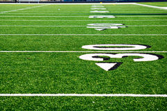 Thirty Yard Line at Football field Royalty Free Stock Photography