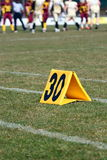 Thirty yard line Stock Images