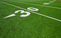 Thirty yard line - football. Thirty yard line - outdoor football field Royalty Free Stock Image