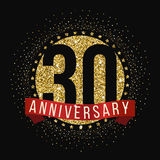 Thirty years anniversary celebration logotype. 30th anniversary logo. Vector illustration Stock Image