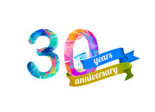 30 thirty years anniversary. Royalty Free Stock Photo