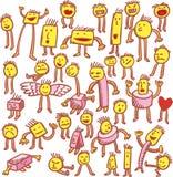 Thirtysix characters Stock Image
