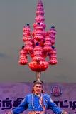 Thiru Harihar Baba, Nayapura, Kota, Rajasthan. Indian dancer. Indian dance festival - 2016 - Mamallapuram. January 14, 2016, Rajasthani folk Royalty Free Stock Photography