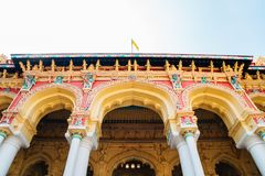 Thirumalai Nayakkar宫殿在马杜赖,印度 免版税库存图片