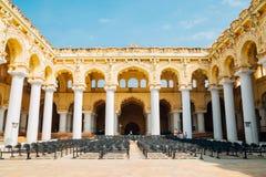 Thirumalai Nayakkar宫殿在马杜赖,印度 库存照片