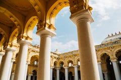 Thirumalai Nayakkar pałac w Madurai, India Zdjęcia Stock