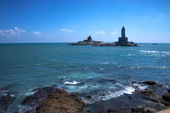 Thiruvalluvar雕象,科摩林角, Tamilnadu,印度 免版税库存照片