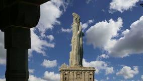 Thiruvalluvar雕象,科摩林角, Tamilnadu,印度 影视素材