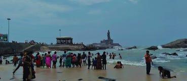 Thiruvalluvar statua w Kanyakumari zdjęcia royalty free