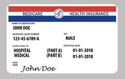 Free This Is A Generic Federal Medicare Card. Generic Names And Logos Are On This Card. Royalty Free Stock Image - 125569556