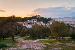 Thissio στην Αθήνα Στοκ Φωτογραφίες