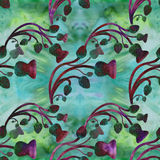 Thistle. Abstract wallpaper with floral motifs. Seamless pattern. Wallpaper. Abstract wallpaper with floral motifs. Seamless pattern. Wallpaper. Use printed vector illustration