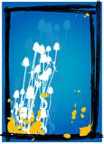 Thistle no fundo azul - vetor Fotografia de Stock Royalty Free