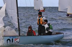 Thistle sailboat class race Stock Photo