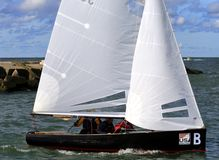 Thistle sailboat race Stock Photography