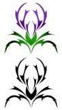 Thistle tattoo Royalty Free Stock Photo