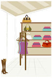 Thje view of clothes Stock Image