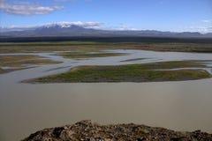 Thjorsa river in Iceland Stock Image