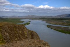 Thjorsa river in Iceland Royalty Free Stock Photos