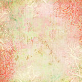 Thème antique floral de fond de cru Photographie stock