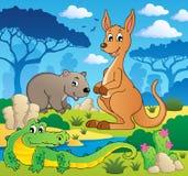 Thème australien 1 d'animaux Photos stock