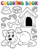 Thème 2 de chien de livre de coloriage Images libres de droits