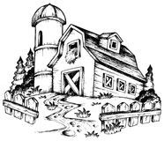 Thème de ferme dessinant 1 Image libre de droits