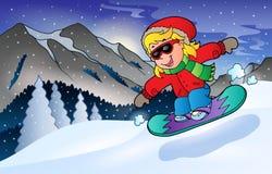Thème 2 de sport de montagne d'hiver Image libre de droits