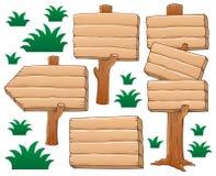 Thème en bois d'enseigne Image stock