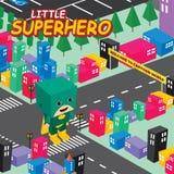 Thème isométrique du monde de super héros étonnant Images libres de droits