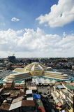 Thmei centrale markt van Psar in phnom penh Kambodja Stock Foto
