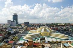 Thmei centrale markt van Psar in phnom penh Kambodja Stock Fotografie